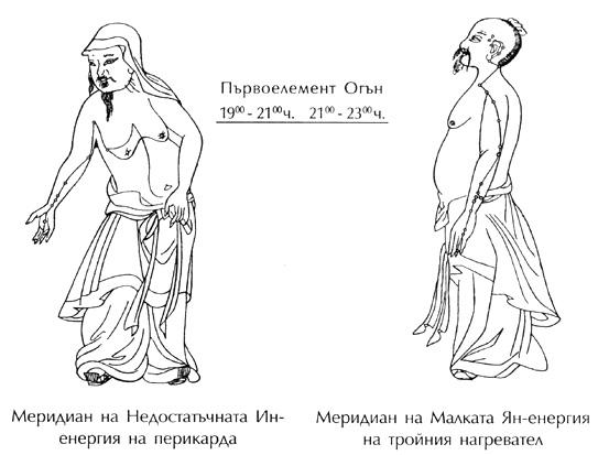 меридиани на перикарда и тройния нагревател